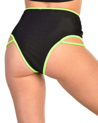 Electric Glow High Waisted Booty Shorts-Side