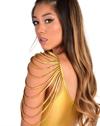 Golden Warrior Fringe Bodysuit-Side2