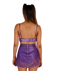 Transcending Lucent Speed Clasp Skort Set-Purple-Back
