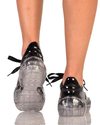 Crystal Clear Sneakers-Black-Back
