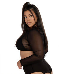 4 AM Twist Front Mesh Crop Top-Side-Curve1--Silvia---1X