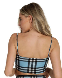 Like Totally Y2K Plaid Crop Top-Blue-Back--Liberty---S