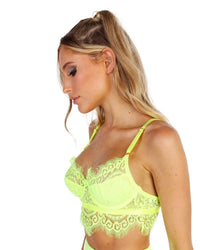 Neon Queen Lace Bralette-Side