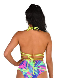 Rolita Couture Neon Superstar Wrap Top