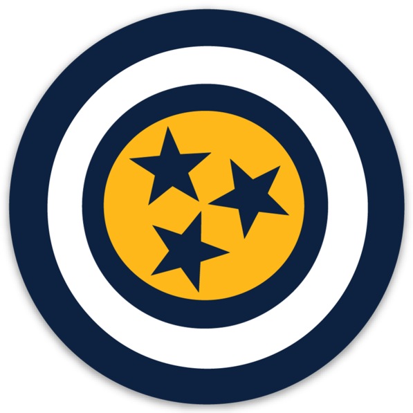 Captain Nashville Sticker - So Nashville Clothing