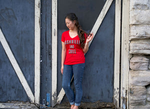 Nashville and Chill - Women's V-Neck - So Nashville