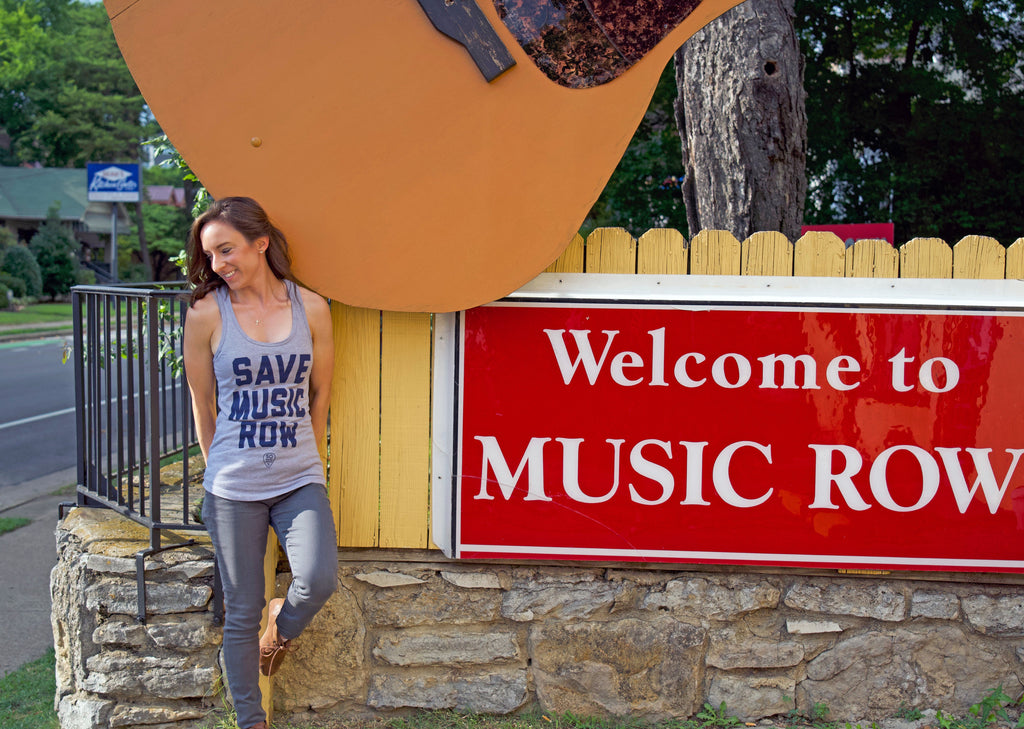 Save Music Row - Women's Racerback - So Nashville