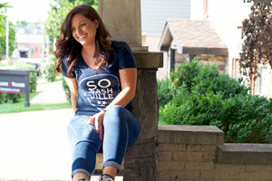 So Nashville™ - Navy/Blue Women's V-Neck - So Nashville