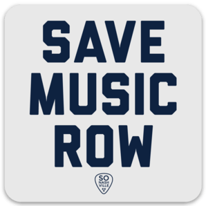 Save Music Row Sticker - So Nashville