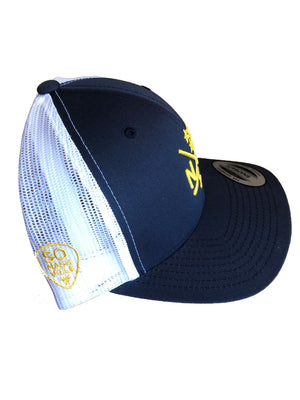 NSH X Hockey Sticks Hat Snapback (Navy/White)