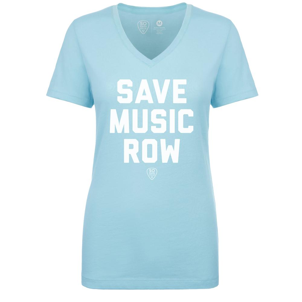 Save Music Row - Women's V-Neck - So Nashville