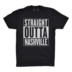 Straight Outta Nashville Black/White - So Nashville Clothing