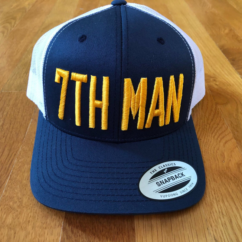 7th Man Hat Snapback (Navy/White) - So Nashville