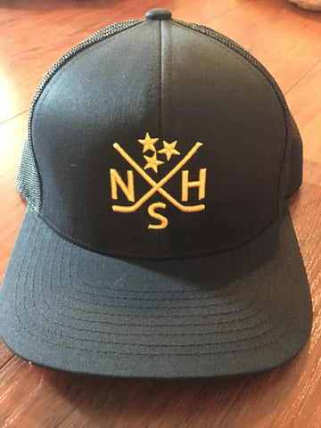 Nashville Crossed Hockey Sticks Hat Snapback