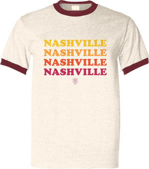 Retro Nashville Red/Orange/Yellow - So Nashville Clothing