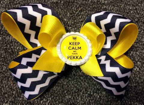 Keep Calm We Have Pekka Hair Bow