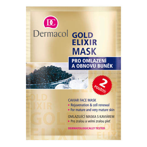 Dermacol Gold Elixir Anti-Ageing Caviar Face Mask 2 x 8 g