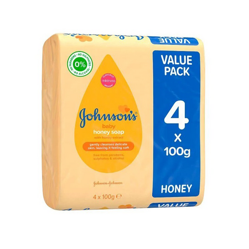 Johnson's Baby Honey Soap 4 x 100 g