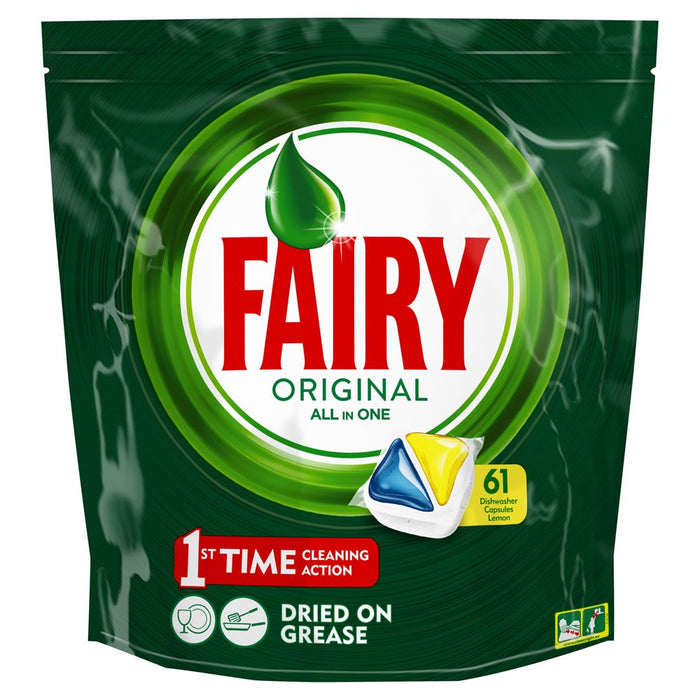 Fairy Original All In One Dishwashing Tabs 61's Lemon
