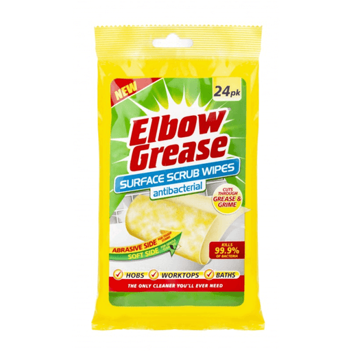 Elbow Grease Antibacterial Surface Scrub Wipes 24's