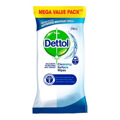 Dettol Cleansing Surface Wipes 110's