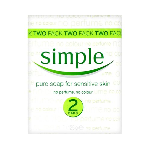 Simple Anti-Bacterial Sensitive Twin Soap 2 x 125g