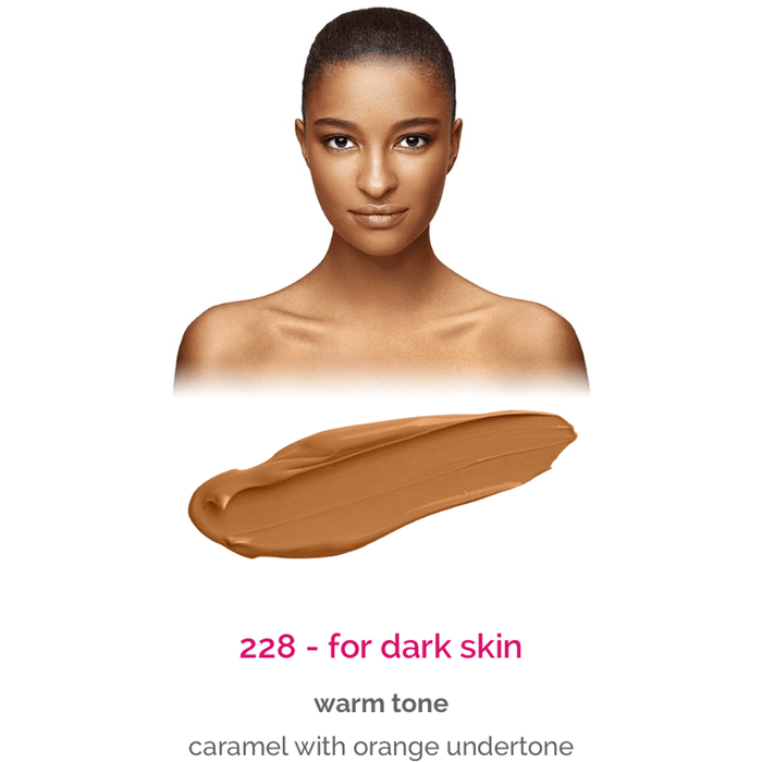 Dermacol Make-Up Cover - shade 228 for dark skin - warm tone