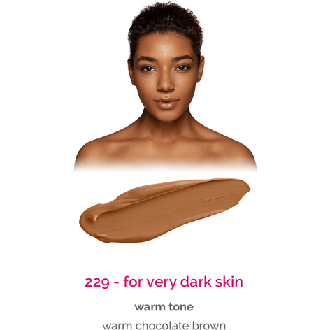 Dermacol Make-Up Cover - shade 229 for very dark skin - warm tone