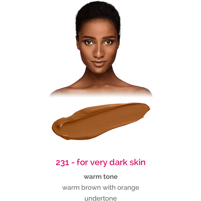 Dermacol Make-Up Cover - shade 231 for very dark skin - warm tone