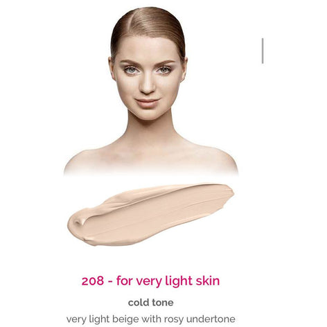 Dermacol Make-Up Cover - shade 208 for very light skin - cold tone