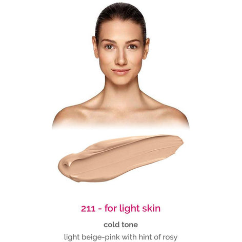 Dermacol Make-Up Cover - shade 211 for light skin - cold tone