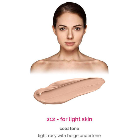 Dermacol Make-Up Cover - shade 212 for light skin - cold tone