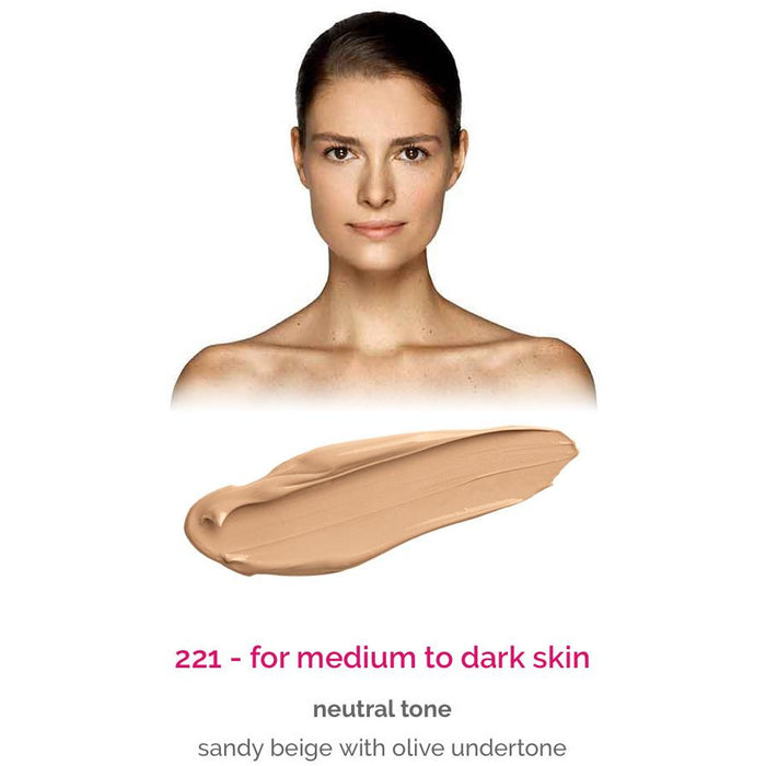 Dermacol Make-Up Cover - shade 221 for medium to dark skin - neutral tone