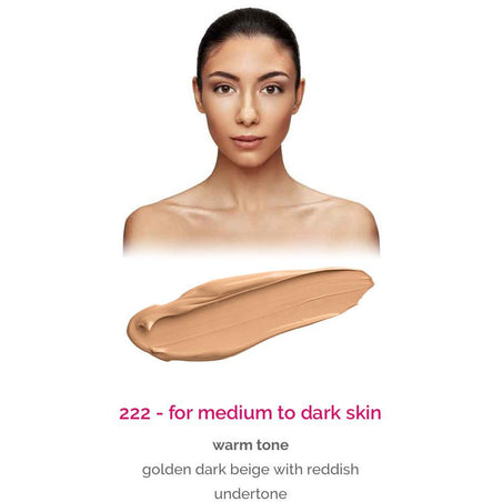 Dermacol Make-Up Cover - shade 222 for medium to dark skin - warm tone