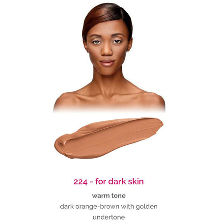 Dermacol Make-Up Cover - shade 224 for dark skin - warm tone
