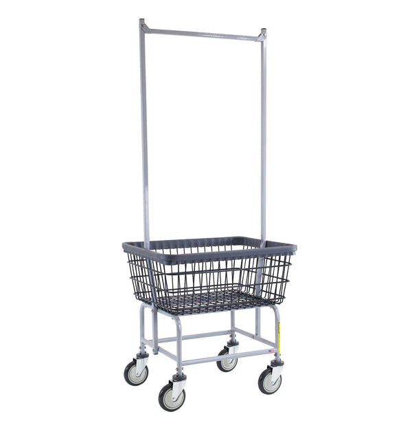 R&B Wire 100E58/D7 Wire Laundry Cart With Double Pole-Norton Supply