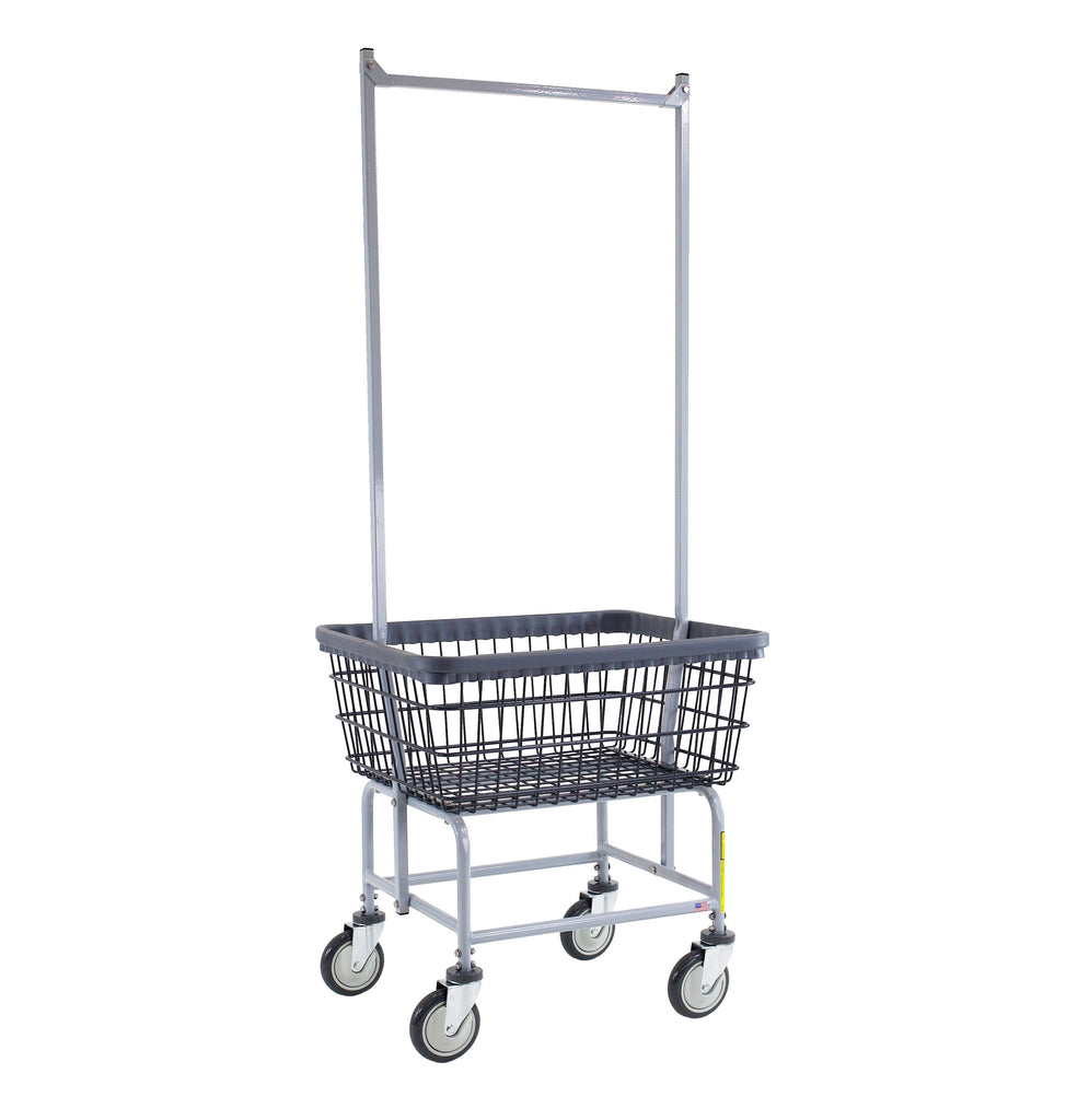 DURA-SEVEN™ LAUNDRY CART W/ DOUBLE POLE RACK-Norton Supply