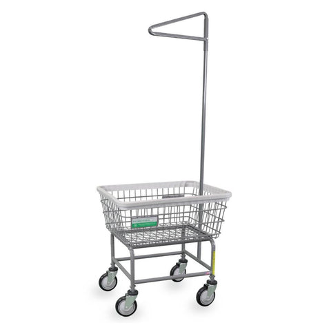 Antimicrobial Laundry Cart w/ Single Pole Rack-Norton Supply