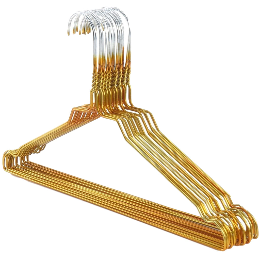 "Galvanized 13-16"" Gold Shirt Hangers, 450/cs-Norton Supply"