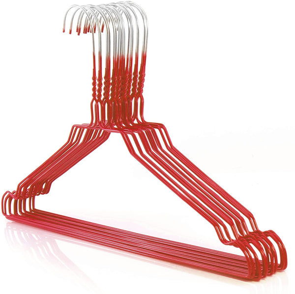 "Galvanized 13-16"" Red Shirt Hangers,450/cs-Norton Supply"