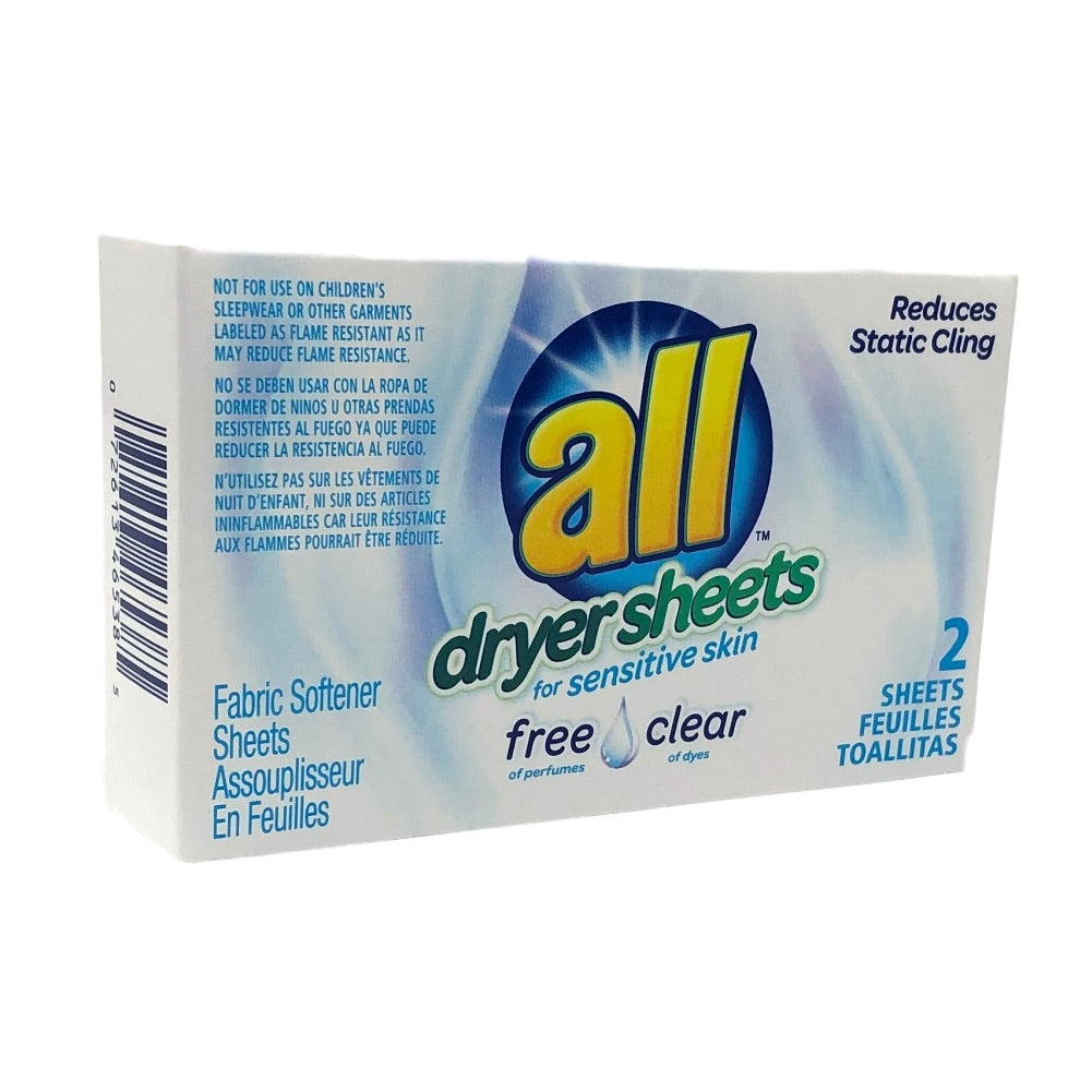 All Free Clear Dryer Sheets-Coin Vend-Norton Supply
