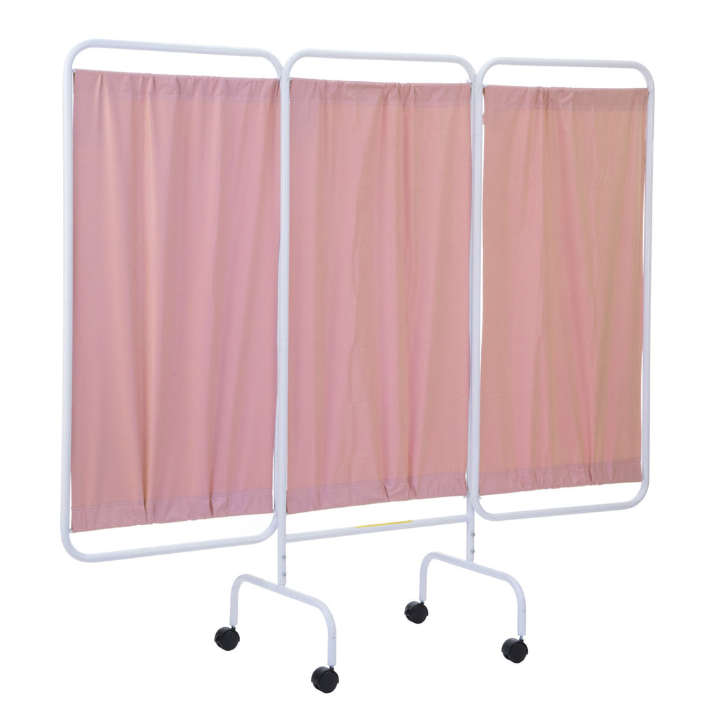 Mobile Antimicrobial Three Panel Privacy Screen-Norton Supply