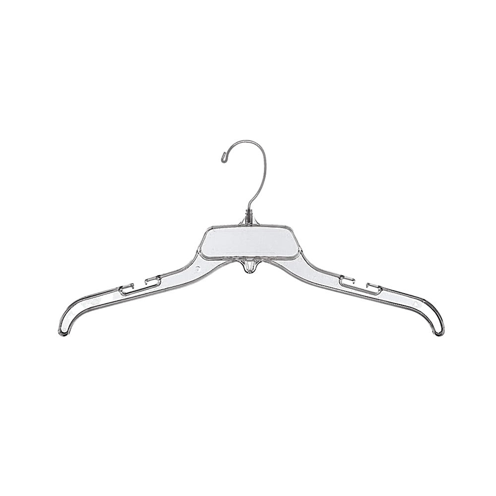 "17"" Clear Plastic Dress Hanger - 20 pack-Norton Supply"