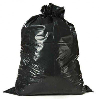 Plasticplace Contractor Bags, 3.0 Mile, Black, 50/Case, 55 to 60 gallon-Norton Supply