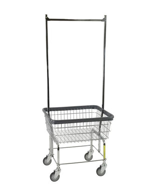 Economy Laundry Cart W/ Double Pole Rack-Norton Supply