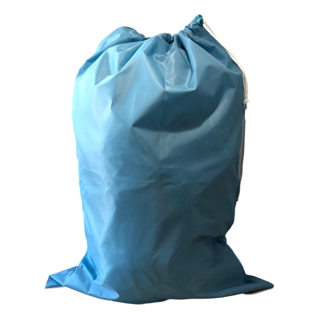 Nylon Laundry Bags - Light Blue - 10 Pack-Norton Supply