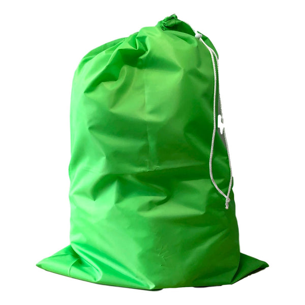 Nylon Laundry Bags - Lime Green - 10 Pack-Norton Supply