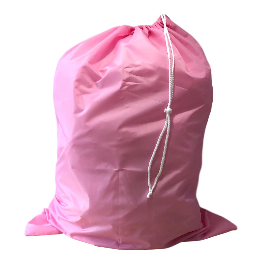 Nylon Laundry Bags - Pink - 10 Pack-Norton Supply