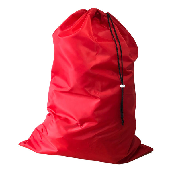 Nylon Laundry Bags - Red - 10 Pack-Norton Supply