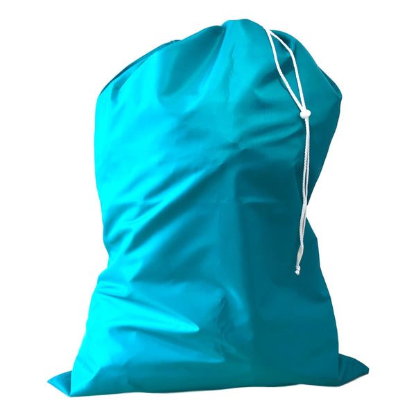 Nylon Laundry Bags - Teal - 10 Pack-Norton Supply